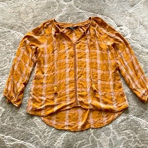American Eagle Rustic Tie-Front Blouse